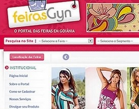 &Uacute;ltimo projeto Gernet, site Feiras Gyn - www.feirasgyn.com.br
